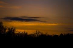 заход солнца восхода солнца Стоковые Изображения