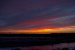 заход солнца восходов солнца Стоковое фото RF