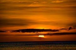 Заход солнца в 🌠¼ 🌠¼ Mauritius🌅 Стоковое фото RF