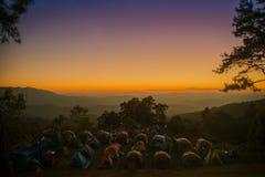 Заход солнца в высоком сезоне Стоковые Изображения RF