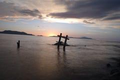 Заход солнца в городе Ачехе стоковые изображения