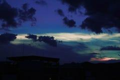 Заход солнца в Гуанахуате стоковые изображения rf