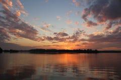 Заход солнца в заводи Смита, MD Стоковое Изображение RF