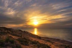 Заход солнца в Израиле Стоковые Фото