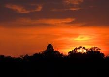 заход солнца в июле Стоковые Фото