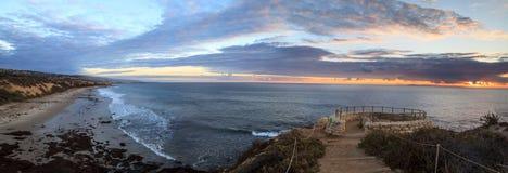 Заход солнца в камне обозревает тот взгляды кристаллический парк штата бухты Стоковое Изображение RF