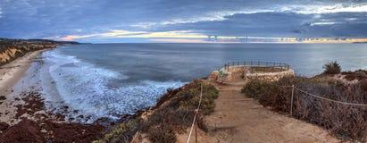 Заход солнца в камне обозревает тот взгляды кристаллический парк штата бухты Стоковая Фотография