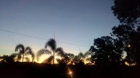 заход солнца в красоте Стоковые Изображения