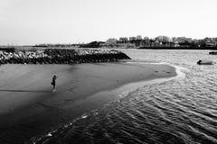 Заход солнца в море ‹Португалии †‹â€ стоковые изображения rf