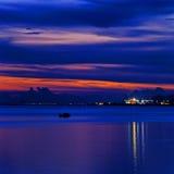 Заход солнца в море Стоковые Фотографии RF