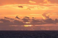 Заход солнца в океане Стоковое Изображение RF