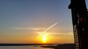 Заход солнца в Остине стоковые изображения