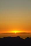 Заход солнца в острове Стоковые Фотографии RF