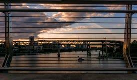Заход солнца в Портленде, Орегоне стоковые изображения