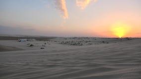 Ландшафт дюн пустыни видеоматериал