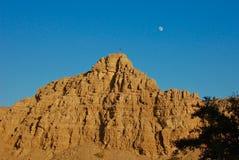 Заход солнца в скалистых горах ОАЭ стоковые изображения