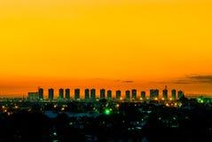 Заход солнца в столице Стоковые Изображения RF