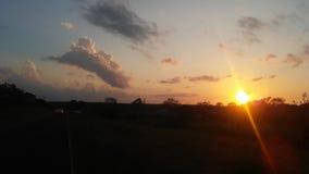 Заход солнца в уединенном государстве звезды стоковое фото