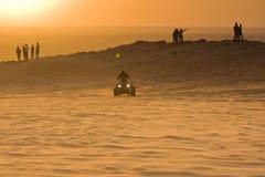 Заход солнца в Al Badayar, Дубае Стоковые Изображения RF