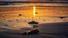 Заход солнца в alifornia ¡ Ð, Сан-Диего стоковое фото rf