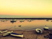 Заход солнца в Cabanas стоковая фотография rf
