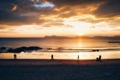 Заход солнца в Samil Стоковое фото RF