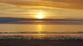 Заход солнца в Saunton Стоковые Фотографии RF