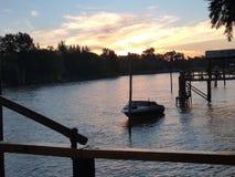 Заход солнца в Tigre стоковое фото rf