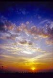 Заход солнца в Viareggio Стоковые Фотографии RF