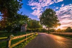 Заход солнца 16 Германии ландшафта естественный Стоковая Фотография RF