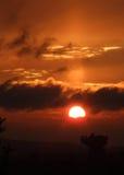 заход солнца Глазго 02 стыковок Стоковые Фото
