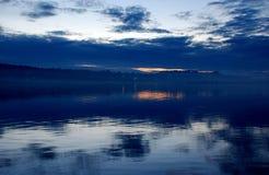 заход солнца голубого неба Стоковая Фотография