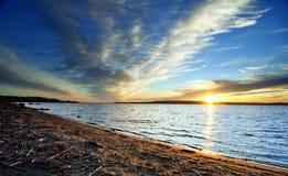 заход солнца голубого неба Стоковое фото RF