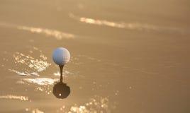 заход солнца гольфа Стоковые Фотографии RF
