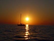 заход солнца горизонта Стоковое фото RF