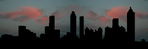 заход солнца горизонта atlanta иллюстрация вектора