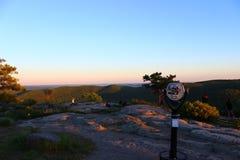Заход солнца горной вершины Стоковое Изображение