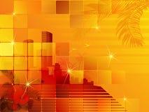 заход солнца городского пейзажа тропический Стоковое Изображение RF