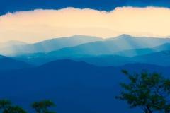 Заход солнца горы голубой зиги Стоковые Фото