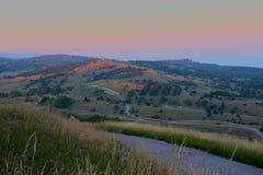 заход солнца горы Крыма Стоковое фото RF