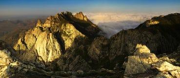 заход солнца горы ландшафта Стоковое Фото