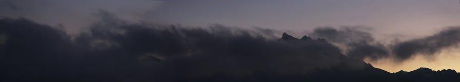 заход солнца горы пустыни египетский Стоковая Фотография