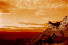 заход солнца горы пустыни