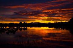 Заход солнца горы Стоковые Изображения