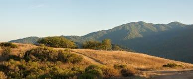 заход солнца горы california Стоковое Фото