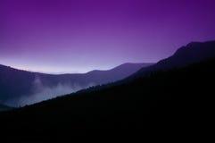 заход солнца горы colorado утесистый Стоковое фото RF