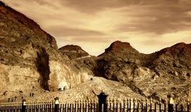 заход солнца горы jebel hafeet Стоковые Изображения RF