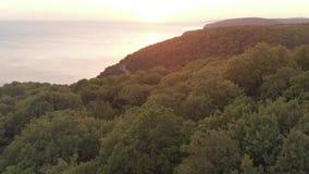 заход солнца гор Крита Греции сток-видео