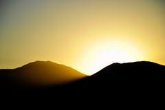 заход солнца гор Стоковое Фото
