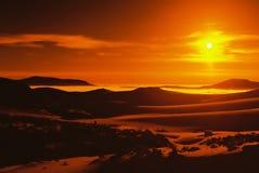 заход солнца гор Стоковые Фотографии RF